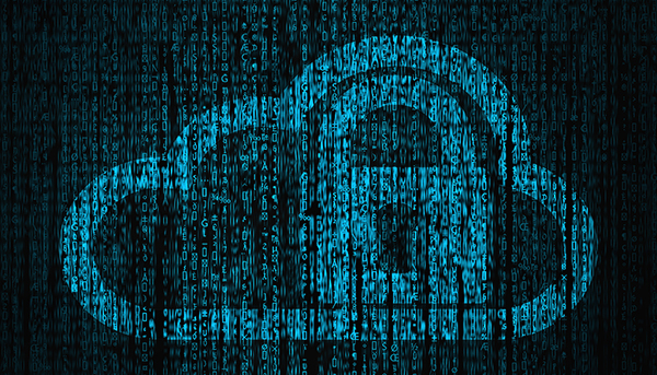 Internet Security concept with lock and cloud symbol