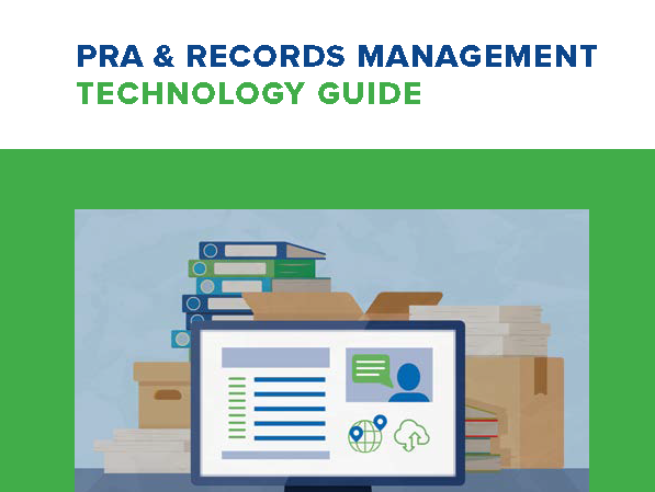 Cover of PRA & Records Management Technology Guide