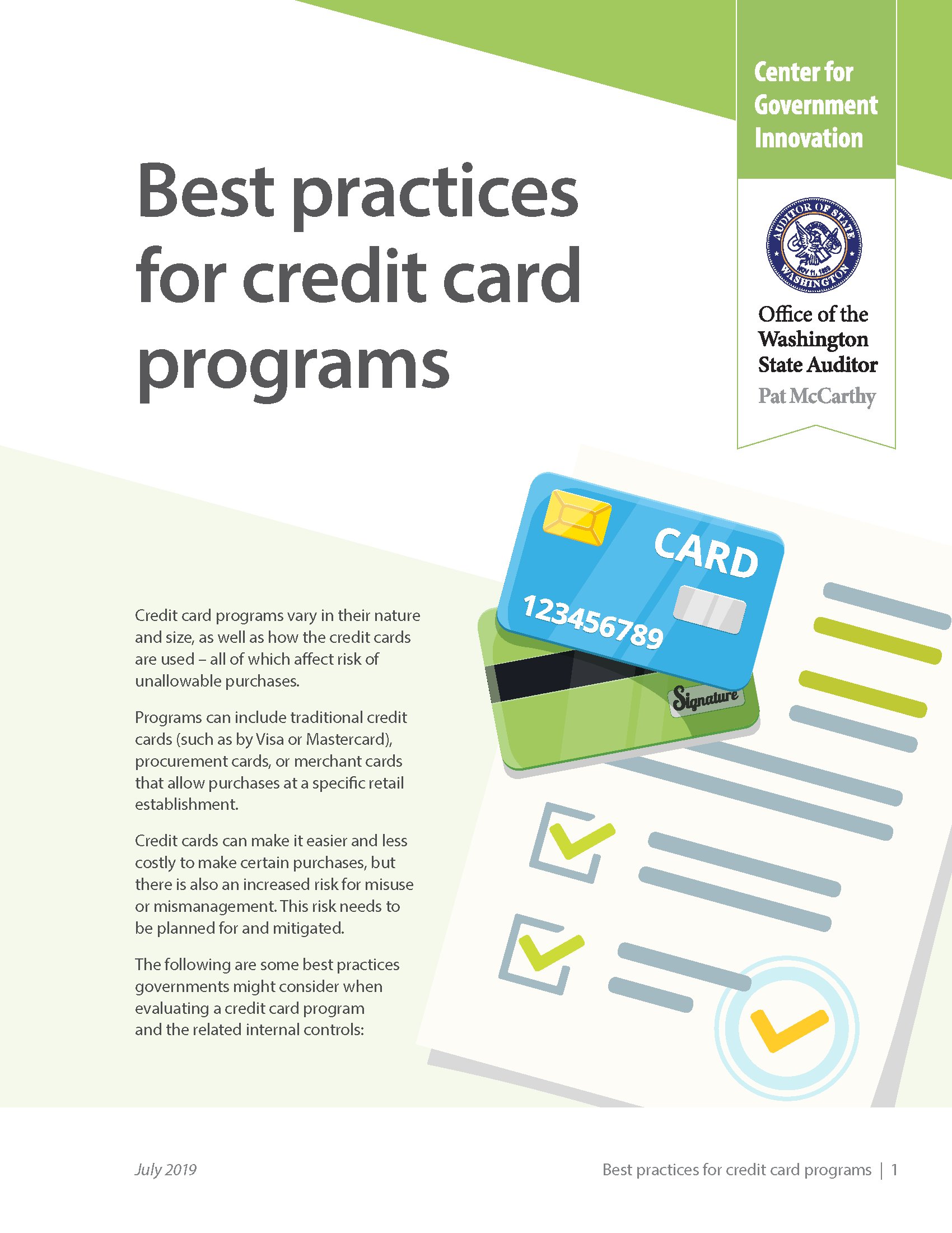 "Cover of resource: ""Best practices for credit card programs"""