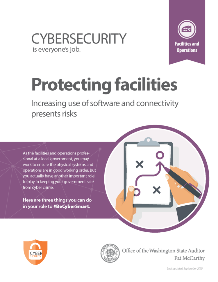 Cover of #BeCyberSmart resource for facilities departments