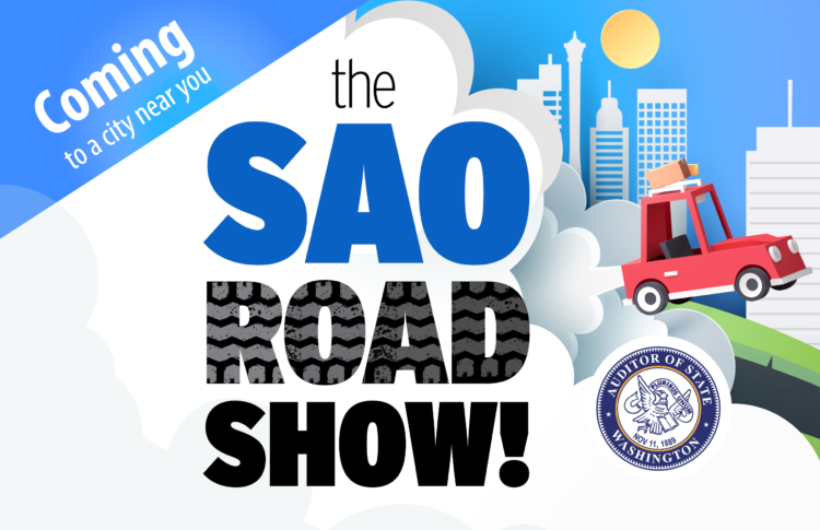 Promotional flyer for SAO Roadshow in fall 2019