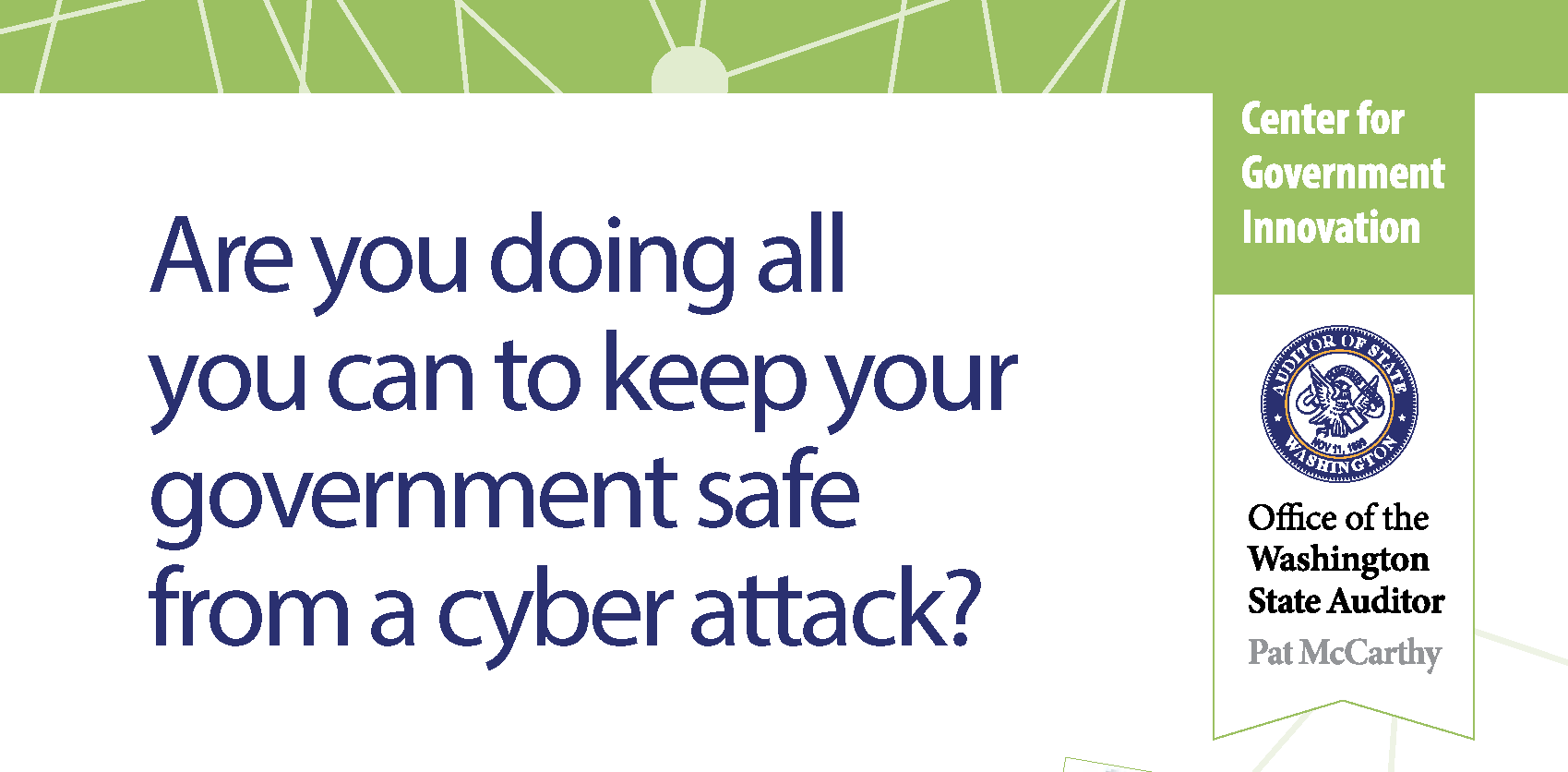Cover of document with resources to help protect governments from cyber attack