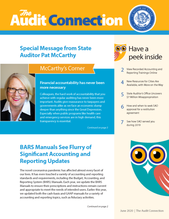 Cover of Audit Connection newsletter